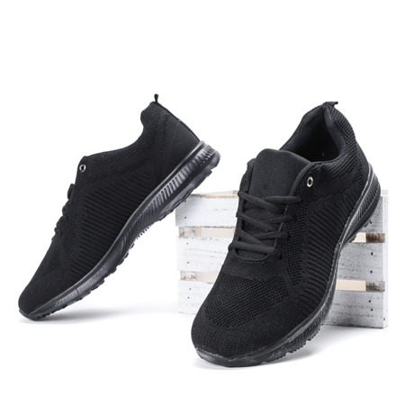 Czarne sportowe męskie buty Shari - Obuwie