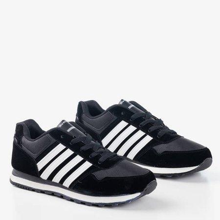 Czarno-białe męskie sportowe buty Gobak - Obuwie