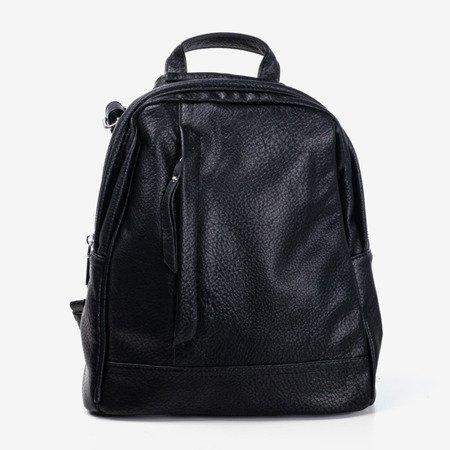 Czarny mały plecak damski - Plecaki
