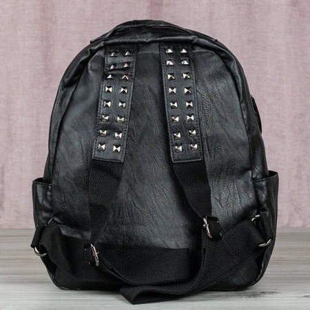 Czarny plecak ćwiekami - Plecaki