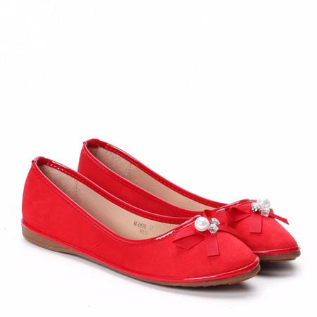 Czerwone baleriny Brooke - Obuwie