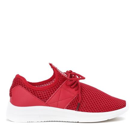 Czerwone buty sportowe na wyższej podeszwie Riri - Obuwie