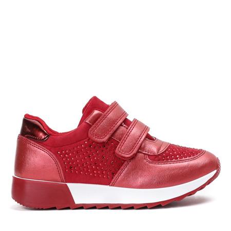 Czerwone dziewczęce buty sportowe Elsane - Obuwie