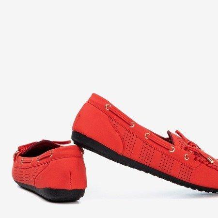 Czerwone mokasyny z kokardką Orisa - Obuwie