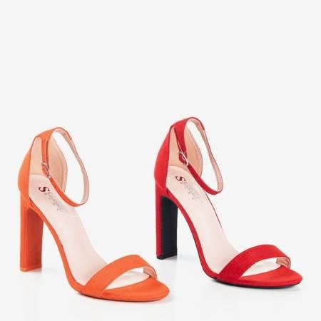 Czerwone sandały na wyższym słupku Zama - Obuwie