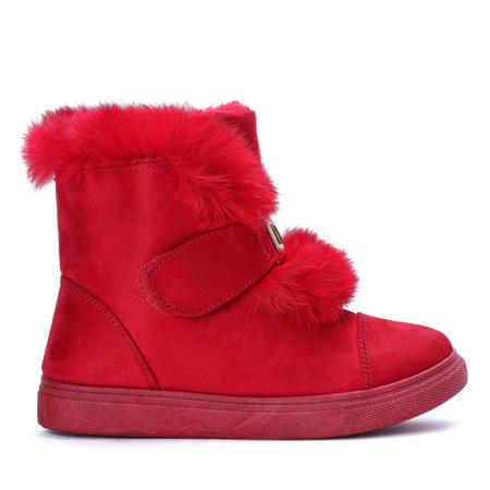 Czerwone śniegowce Beatrisa - Obuwie