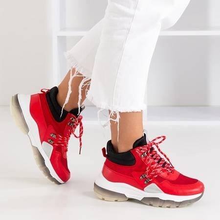 Czerwone sportowe buty z wysoką cholewką Kirston - Obuwie