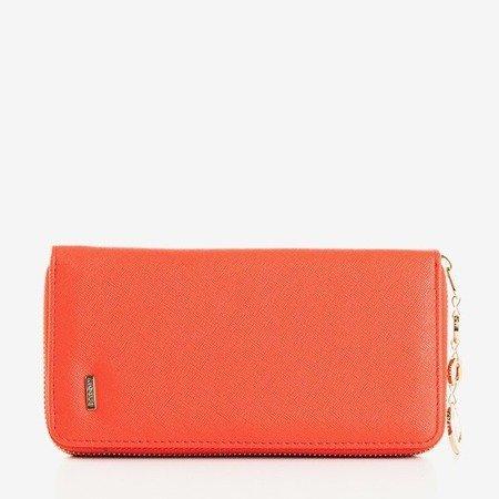 Czerwony duży portfel damski - Portfel