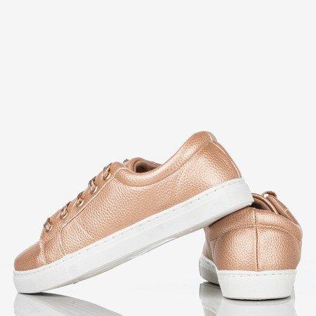 Damskie buty sportowe różowe złoto Natali - Obuwie