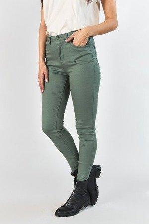 Damskie spodnie jeansowe w kolorze khaki - Spodnie