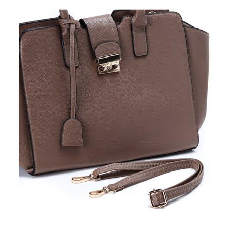 Duża torebka w kolorze brązowym - Torebki