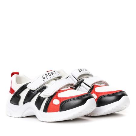 Dziecięce białe buty na grubej podeszwie Pilija -Obuwie