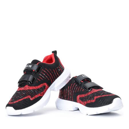 Dziecięce czarno-czerwone sportowe buty Agota - Obuwie