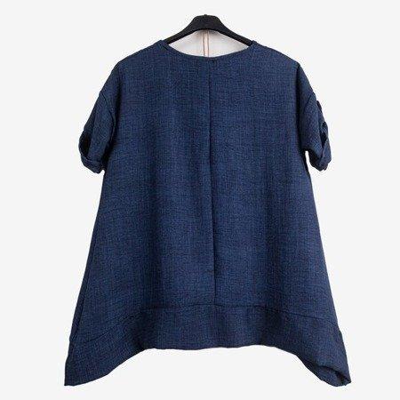 Granatowa tunika damska - Odzież