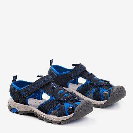 Granatowe damskie sportowe sandały Rima - Obuwie