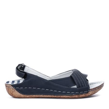 Granatowe sandały Rowita - Obuwie