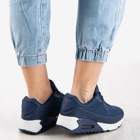 Granatowe sportowe buty damskie Lamlang - Obuwie