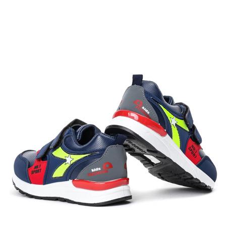 Granatowe sportowe chłopięce buty Mughetto - Obuwie