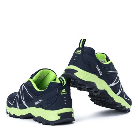 Granatowo-zielone męskie buty sportowe Jonas - Obuwie