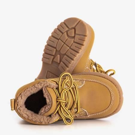 Jasnobrązowe chłopięce trapery Bimba - Obuwie