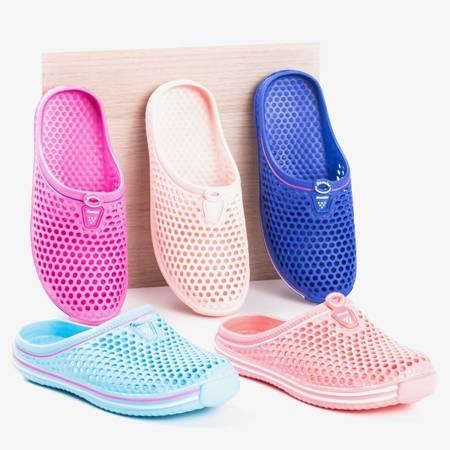Jasnoniebieskie damskie klapki gumowe Gumi - Obuwie