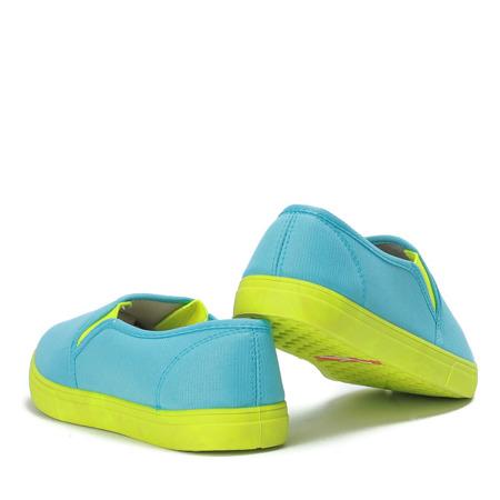Jasnoniebieskie neonowe trampki slip on Borutta - Obuwie