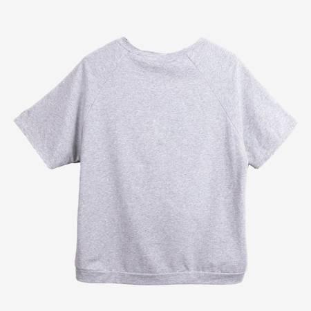 Jasnoszary komplet dresowy z ozdobami - Odzież