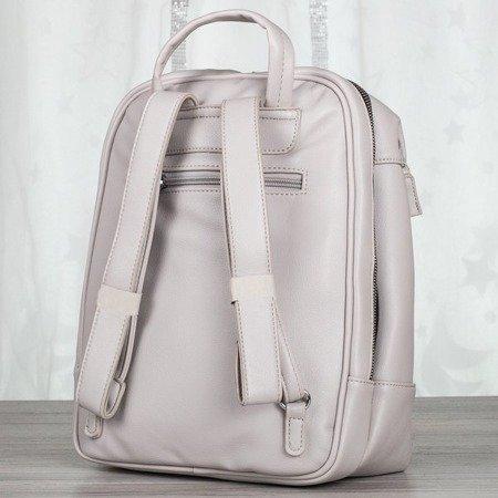 Jasnoszary plecak damski - Plecaki