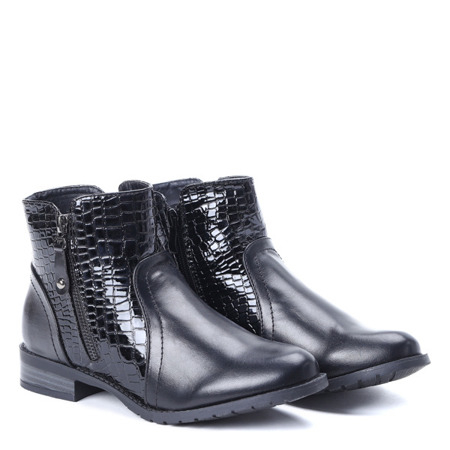 Klasyczne czarne botki - Obuwie