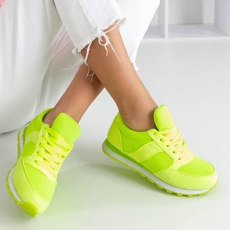 Neonowe zielone buty sportowe Fantazi - Obuwie