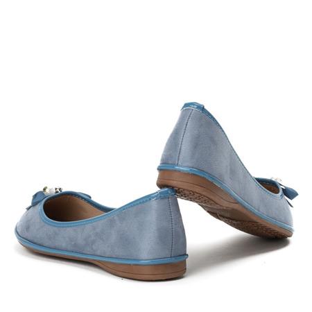 Niebieskie baleriny z kokardką Braila - Obuwie