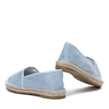 Niebieskie espadryle ażurowe Valenta - Obuwie