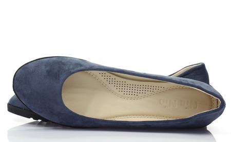 Niebieskie gładkie baleriny Trycia - Obuwie