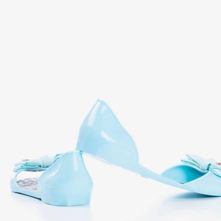 Niebieskie meliski z kokardką Larne - Obuwie