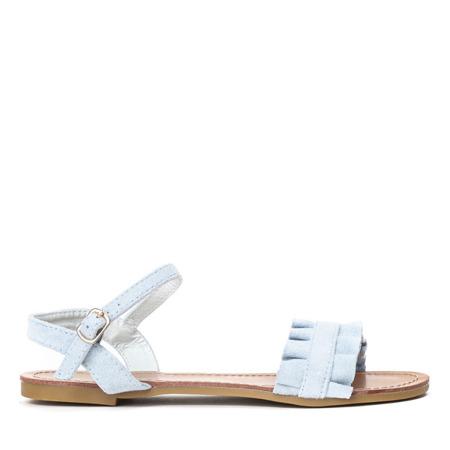 Niebieskie sandały na płaskiej podeszwie Tilda - obuwie