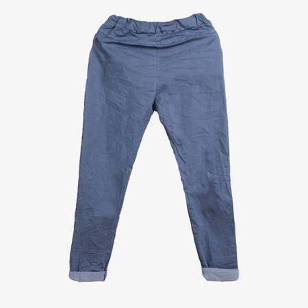 Niebieskie spodnie damskie w sportowym stylu - Odzież