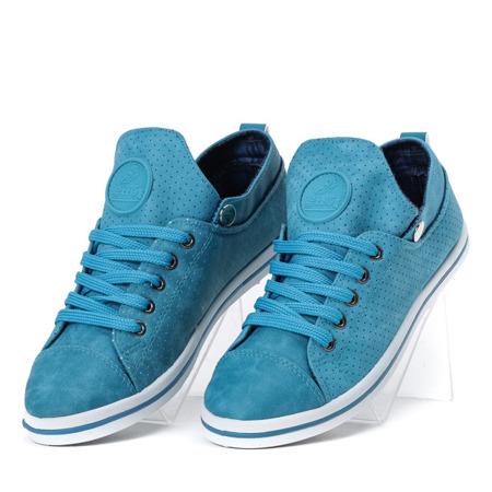 Niebieskie tenisówki ażurowe Moon Blue - Obuwie