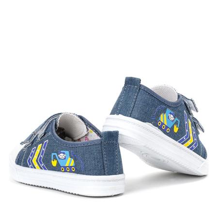 Niebieskie tenisówki chłopięce na rzepy Condi - Obuwie