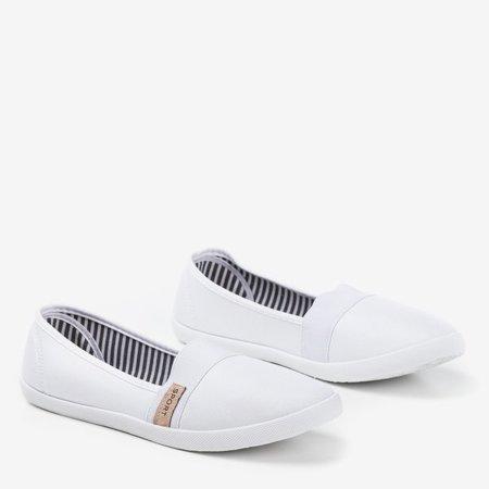 OUTLET Białe tenisówki slip on Spoulia - Obuwie