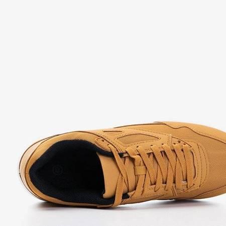 OUTLET Brązowe męskie sportowe buty Soliak - Obuwie