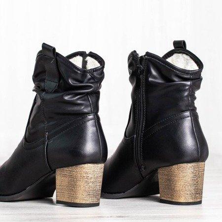 Ocieplane kowbojki w kolorze czarnym Vincenza - Obuwie