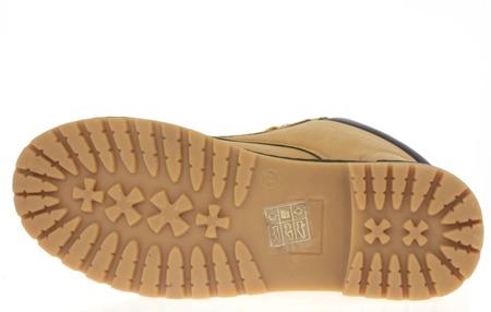 Ocieplane, sznurowane traperki w kolorze brązowym - Obuwie