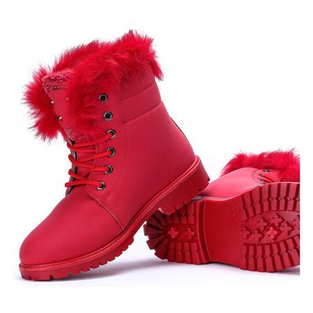 Ocieplane trapery w kolorze czerwonym Ellah - Obuwie