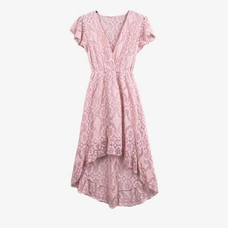 Różowa sukienka koronkowa - Sukienki