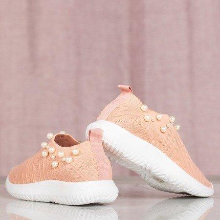 Różowe buty sportowe z perełkami Dayanah - Obuwie