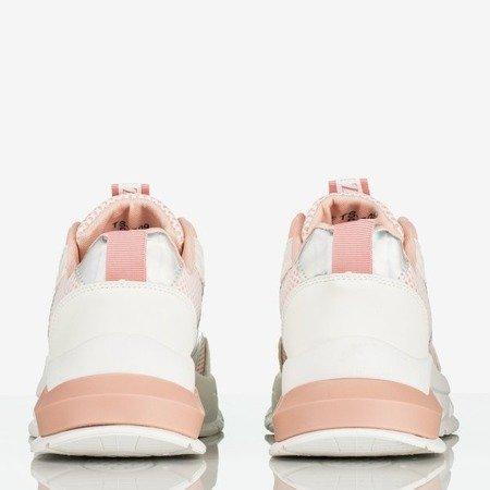 Różowe damskie buty sportowe z holograficzną wstawką Super Soul - Obuwie