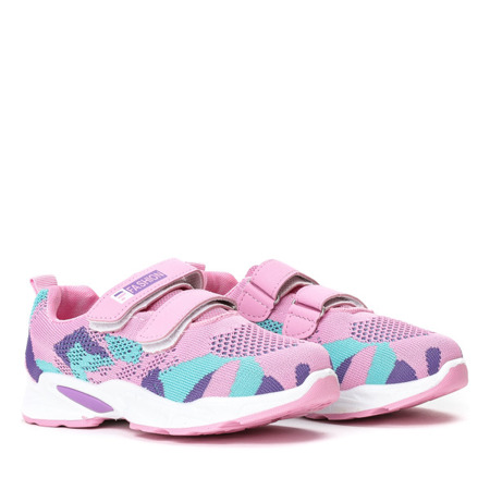 Różowe dziewczęce buty sportowe Ramonelia - Obuwie