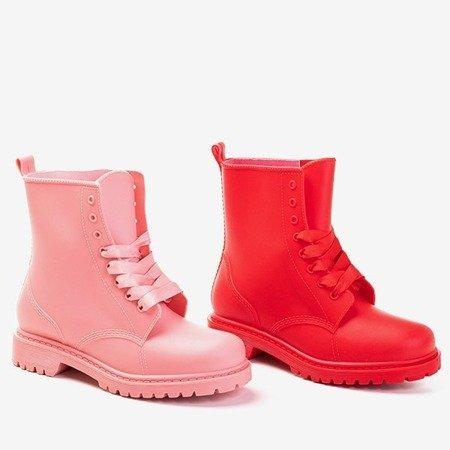 Różowe gumowe workery damskie Bilto - Obuwie