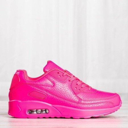 Różowe neonowe damskie sportowe buty Fassa - Obuwie