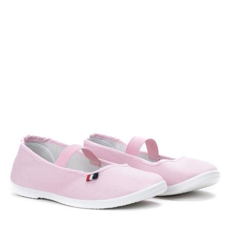 Różowe slip-on Alinea - Obuwie